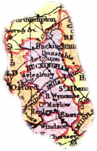 Buckinghamshire - Map of Bucks (1904)