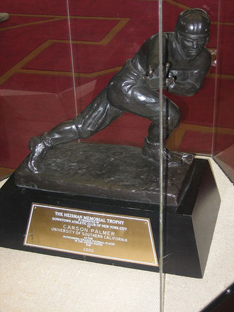 2002 NCAA Division I-A football season - Heisman Trophy won by Carson Palmer for play during the 2002 season