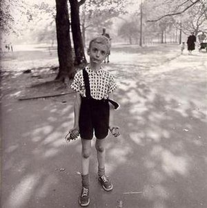 Diane Arbus' Child with Toy Hand Grenade in Ce...