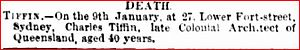 Charles Tiffin - Brisbane Courier, 20 Feb 1873, page 2
