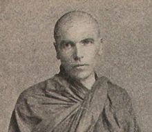 Photograph of Dhammaloka in monk's robes.