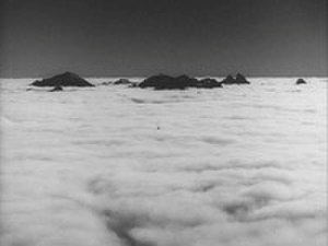 "Zhokhov Island - Opening shot from Dr. Strangelove: ""the perpetually fog-shrouded wasteland below the Arctic peaks of the Zhokhov Islands"""