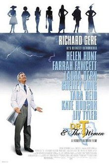 A man in a white coat, stethoscope on his shoulders, clouds and lightning above him.