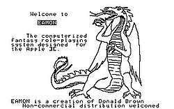 The Eamon splash screen (previously used for Odyssey: The Compleat Apventure).