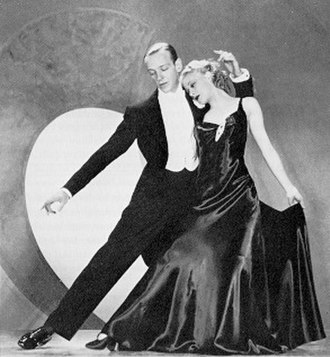 Ginger Rogers - Rogers with her frequent co-star Fred Astaire in the film Roberta (1935)