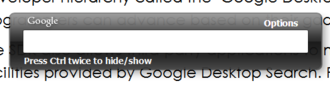Google Desktop - Quick find box
