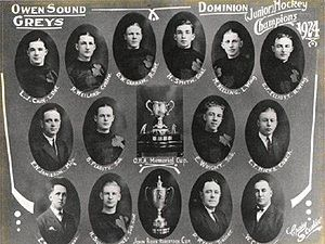 Owen Sound Greys - The 1924 Memorial Cup and J. Ross Robertson Cup champion Owen Sound Greys
