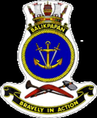 HMAS Balikpapan (L 126) - Ship's badge