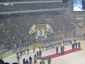 HC Lugano - Retired jersey of Alfio Molina