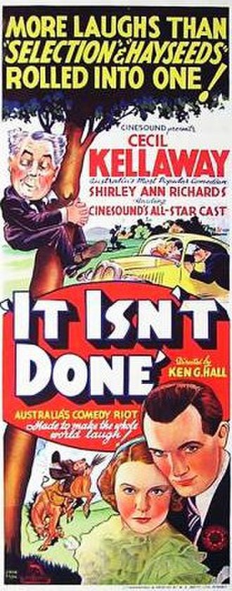 It Isn't Done - Image: It Isn't Done