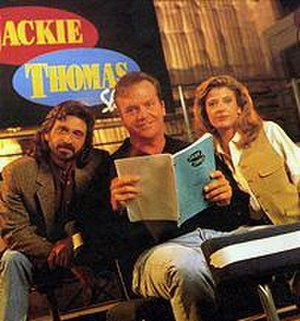 The Jackie Thomas Show - From left to right, Dennis Boutsikaris, Tom Arnold and Alison LaPlaca
