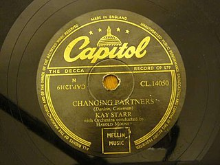 Changing Partners song performed by Patti Page
