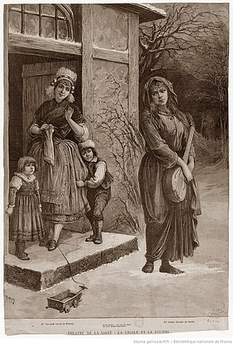 La cigale et la fourmi - Thérèse's dream – rejected by Charlotte