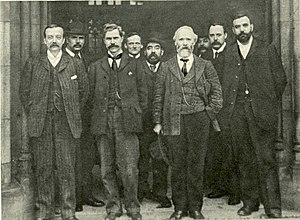 Ramsay MacDonald - Macdonald (third from left) in 1906, with other leading figures in the party