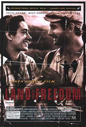 Land and Freedom - Movie poster from Ken Loach's Land and Freedom