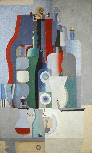 Le Corbusier (Charles Edouard Jeanneret), 1922, Nature morte verticale (Vertical Still Life), oil on canvas, 146.3 x 89.3 cm, Kunstmuseum, Basel