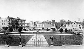 Los Angeles Plaza - Los Angeles Plaza and Pico House (1890)