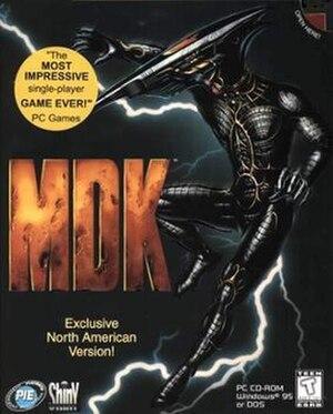 MDK (video game) - North American PC cover art