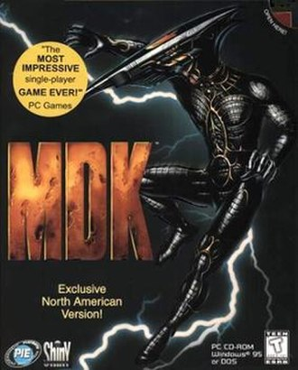 MDK (video game) - North American PC cover art