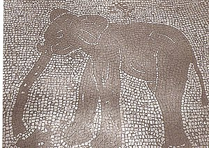 Piazzale delle Corporazioni - An example of the mosaics found in the Forum of Corporations
