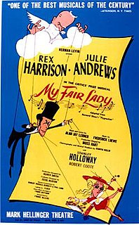 "<i>My Fair Lady</i> 1956 musical based on Shaws ""Pygmalion"""