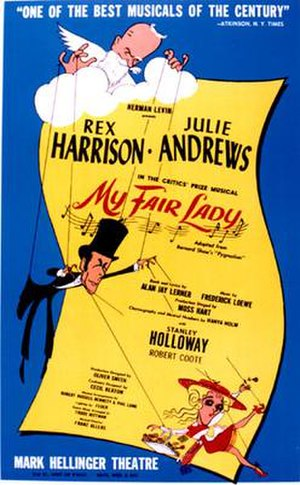 My Fair Lady - Original Broadway Poster by Al Hirschfeld