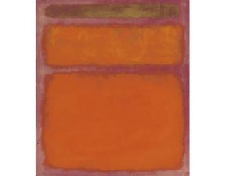 <i>Orange, Red, Yellow</i> painting by Mark Rothko