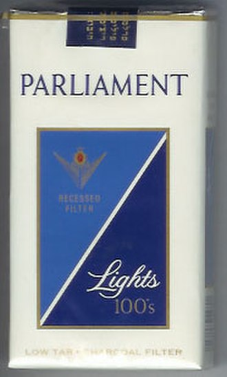 Parliament (cigarette) - Image: Parliament (cigarette) pack