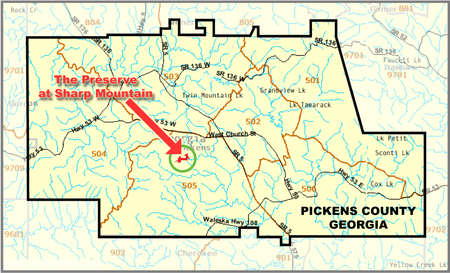 Jasper Georgia Map.Sharp Mountain Preserve Georgia Wikipedia