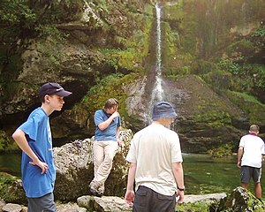 Scouting in South East England - Members of Royal Berkshire resting whilst walking in Slovenia