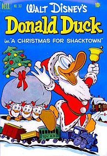 a christmas for shacktown comic book cover - Donald Duck Christmas