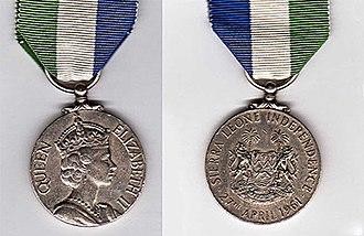 Sierra Leone Independence Medal - Image: Sierra Leone Independence Medal