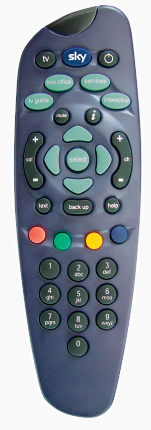 Digibox - The Standard Sky Remote in blue