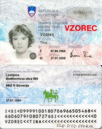 Slovenian Identity Card Wikipedia
