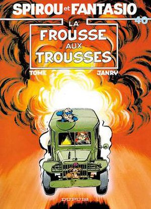 La frousse aux trousses - Cover of the Belgian edition