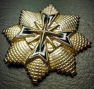 Star of South Africa, Gold - Breast star