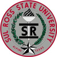 "The official university seal, a circular graphic containing the words ""Sul Ross State University"" and ""Alpine Texas"" around the outer edges of the circle. In the center of the seal is the Bar-SR-Bar brand graphic overlaid in front of a torch. The symbol of the torch is typically used to signify the light of wisdom, awakening, and enlightenment. At the base of the torch is a five-pointed star representing Texas. Branches to either side of the torch and Bar-SR-Bar brand are suggestive of those from the State Seal of Texas: which are a live oak branch (representing strength) and an olive branch (representing peace)."