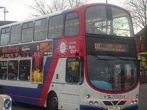 West Midlands bus route 11 - National Express West Midlands Wright Eclipse Gemini bodied Volvo B7TL