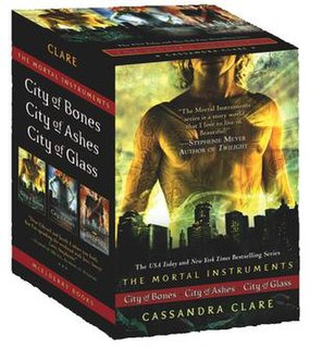 <i>The Mortal Instruments</i> Series of six young adult fantasy novels written by Cassandra Clare