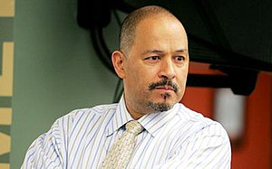 "The Wire (season 5) - New starring cast member Clark Johnson as editor Augustus ""Gus"" Haynes."