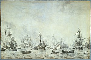 The battle of the downs, by willem van de velde.JPG