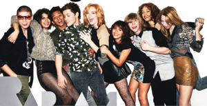 Skins (North American TV series) - Skins cast; From left to right: Chris, Tea, Abbud, Tony, Michelle, Daisy, Stanley, Cadie and Eura.