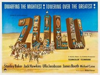 Zulu (1964 film) - Italian film poster