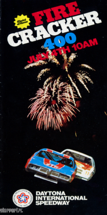 The official program of the 1976 Firecracker 400 NASCAR Winston Cup Series race.