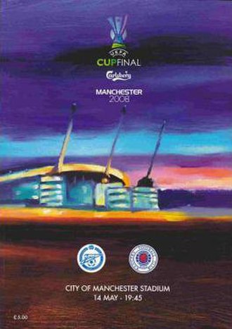 2008 UEFA Cup Final - Match programme cover