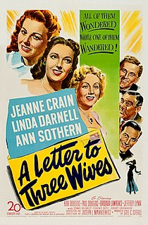 <i>A Letter to Three Wives</i> 1949 film by Joseph L. Mankiewicz