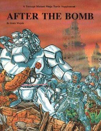 After the Bomb (game) - Front cover of After the Bomb first edition TMNT supplement