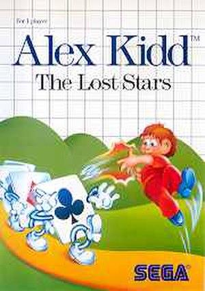 Alex Kidd: The Lost Stars - Western Master System box art