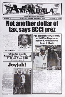 <i>Amandala</i> Belizean tabloid newspaper