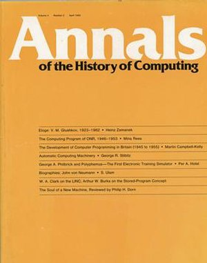 IEEE Annals of the History of Computing - Image: Annals of the History of Computing, vol 4